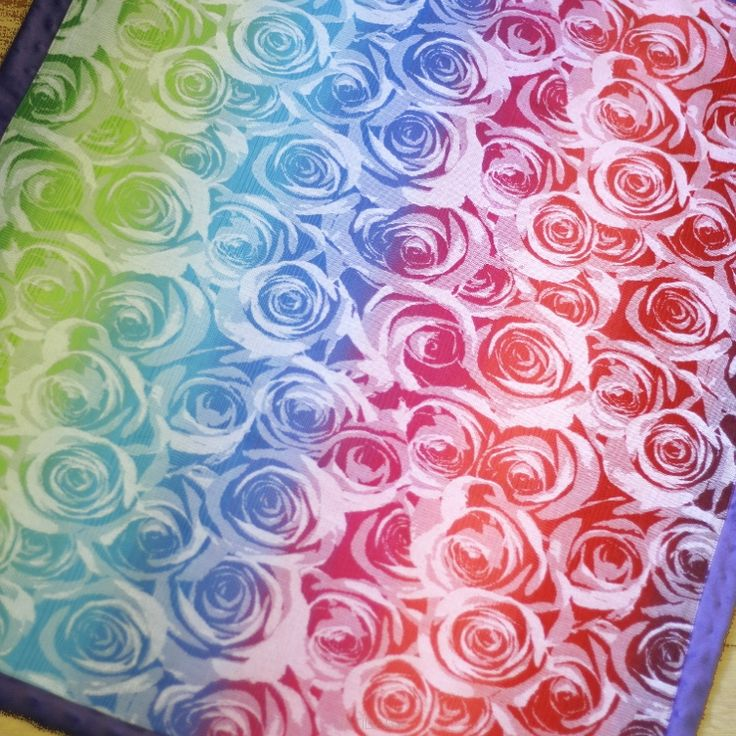 NatiBlanket Roses white rainbow #2