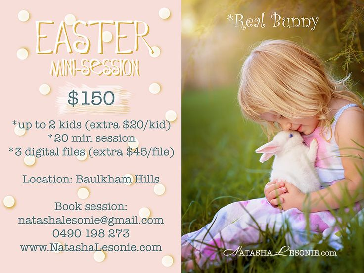 Easter Mini Photo Session for kids with bunny