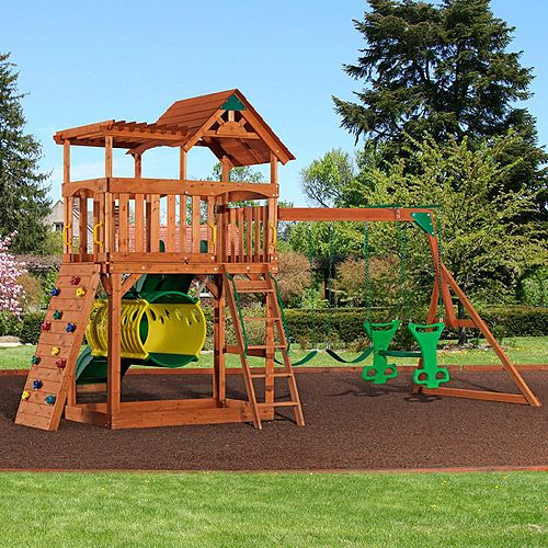 Backyard Discovery Arizona Cedar Wooden Swing Set