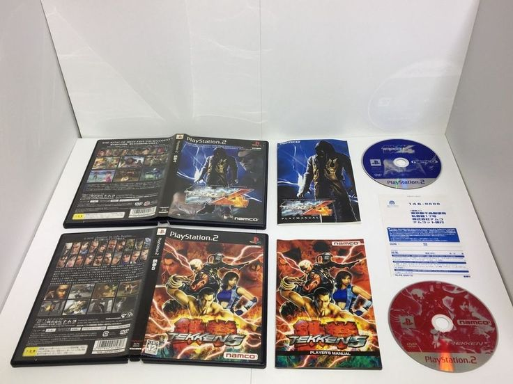 PlayStation 2 TEKKEN 4 & TEKKEN 5 2pcs Japan import PS PS2 JP IRON FIST namco
