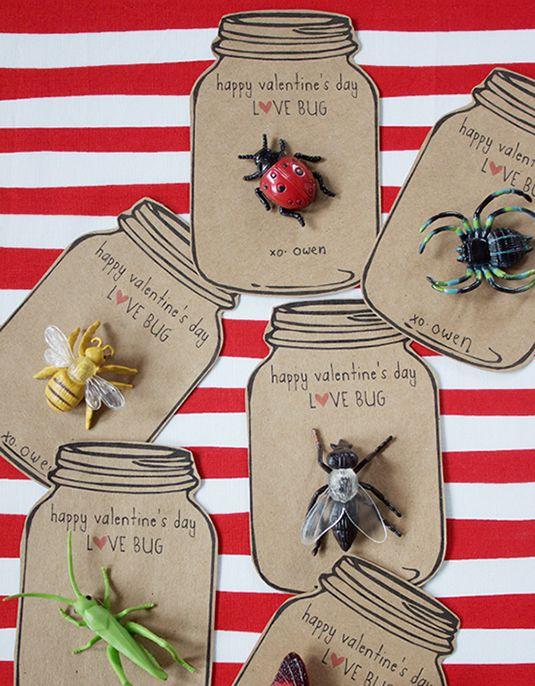 Super cute! Love Bug Valentines