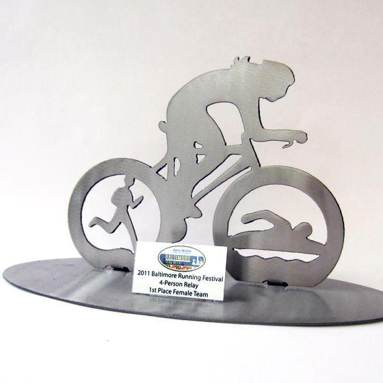 modern cycling trophy award - Google Search