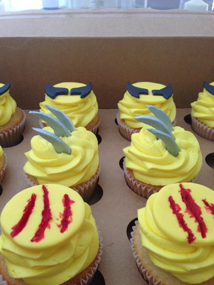 Wolverine cupcakes. Whisk Bakery Augusta, Georgia and Wiesbaden, Germany. www.Facebook.com/cupcakesbybritani