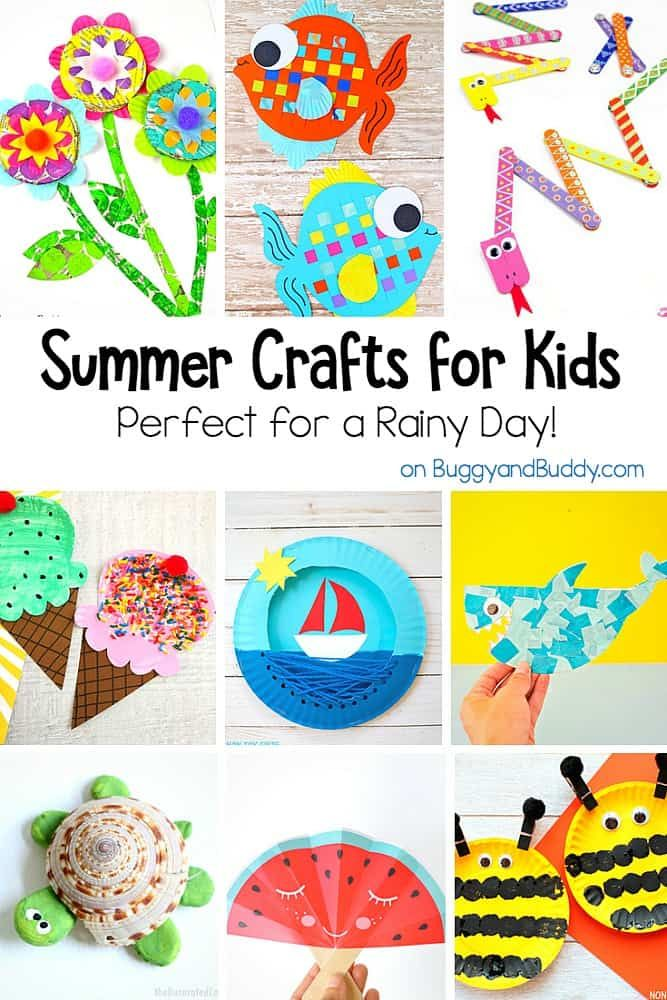 20 summer themed crafts for kids perfect for a rainy day for