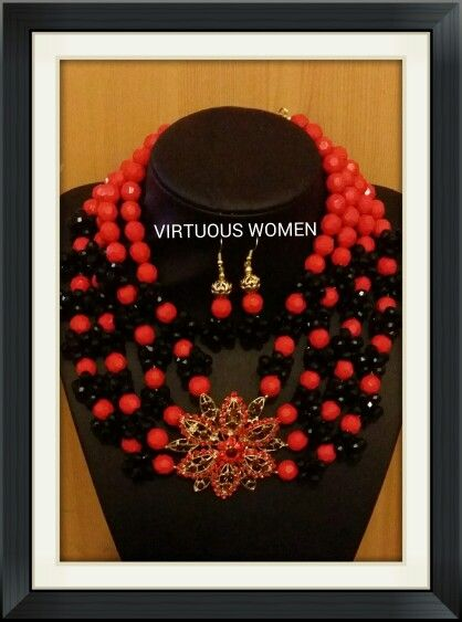 Red and black multi strand