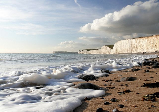 A Light Froth - Birling Gap Sussex by Mike Bovington https://www.flickr.com/photos/8645090@N05/13944612412/