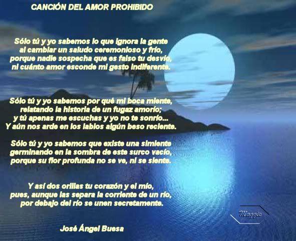 Cancion del amor prohibido jose buesa y as dos orillas for Cancion el jardin prohibido