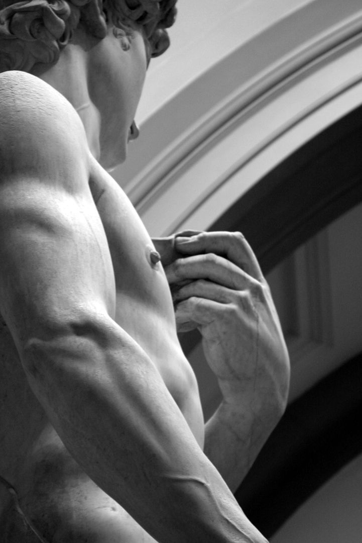 """Michelangelo's """"David"""" in Florence, Italy"""