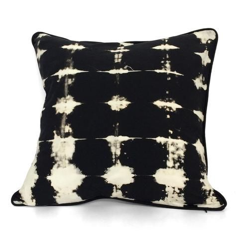 Cushion cover 45x45 cm Handmade by Portuur in Cape Town, South Africa. Shibori  textiles traditional techniques