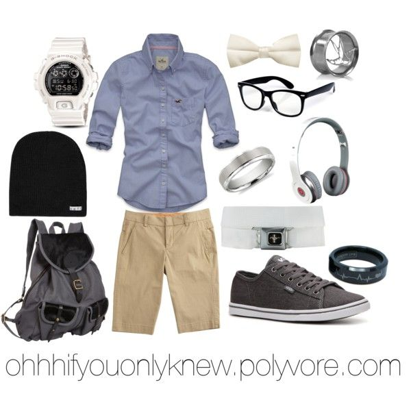 chambry Shirt, beige Shorts, accesoire for Teens but without the bowtie!