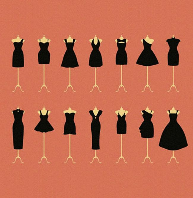 little black dress pattern (:
