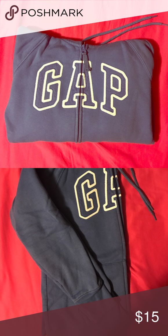 Gap Zip-Up Baby blue and white zip-up hoodie from the gap. Women's small. GAP Sweaters