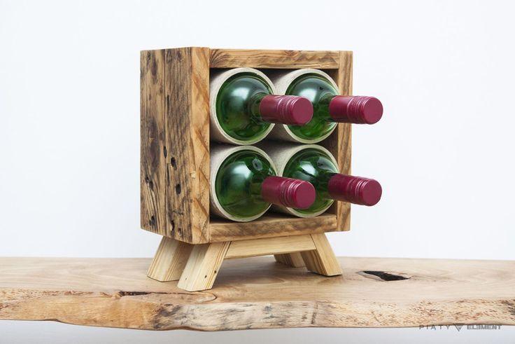 "Stojak na wino ""Upcykled Square"" - 5_Element - Stojaki na wino"