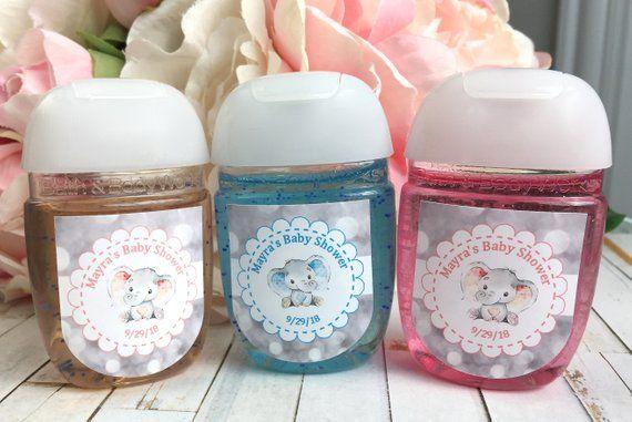 Baby Elephant Baby Shower Favor Labels Hand Sanitizer Favor Etsy