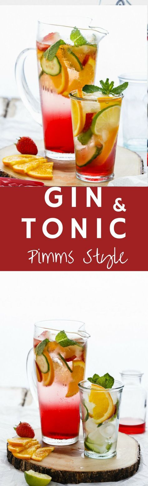 When the weather gets bright and sunny, make Gin & Tonic in Pimms Style, the British way!