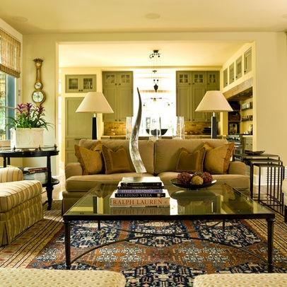 Living Room Moss Green Sofa