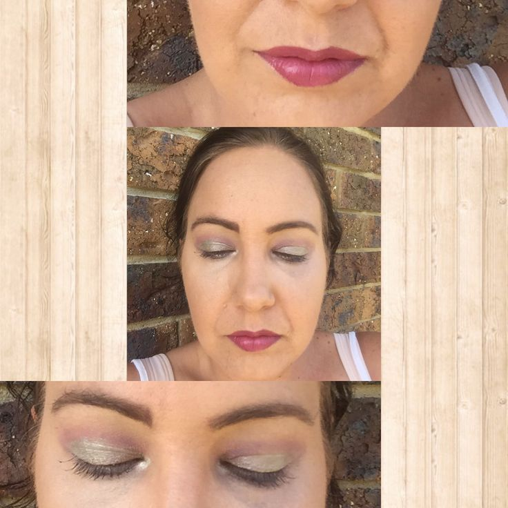 Easter makeup using Younique loose mineral pigments and Splash Matte Lipstick