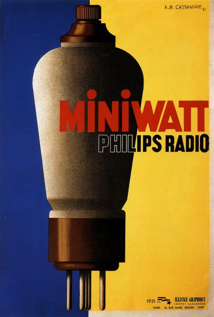 Miniwatt. Cassandre, 1931