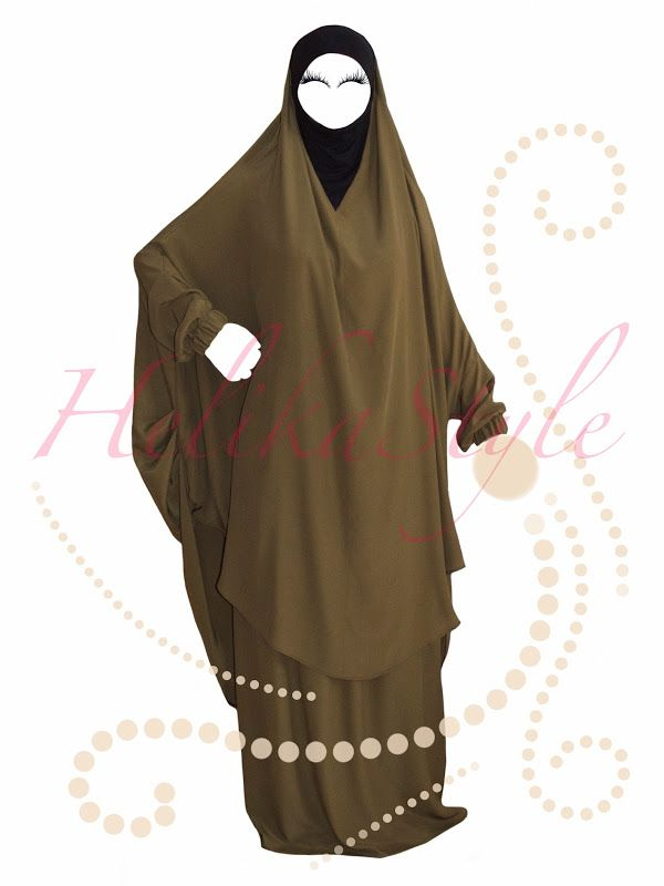 Overhead abaya (French Jilbab) designed by HelikaStyle. Sew with me islamic clothes!