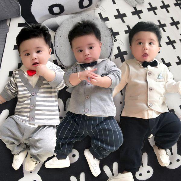 Сиамские детская одежда новорожденного ребенка девушка Romper хлопка белье весна и зима пижамы 0 M 3 месяца