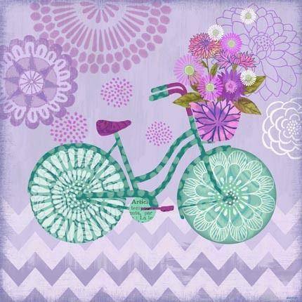 Sunday Bicycle Purple by Jennifer Brinley | Ruth Levison Design