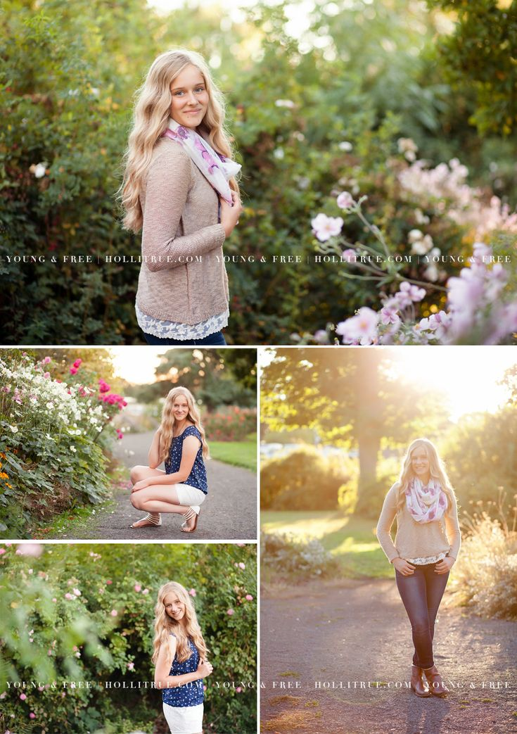 Beautiful Garden Senior Pictures in Eugene with Albany high school senior , Rebecca, by senior portrait photographer for the Young & Free, Holli True.