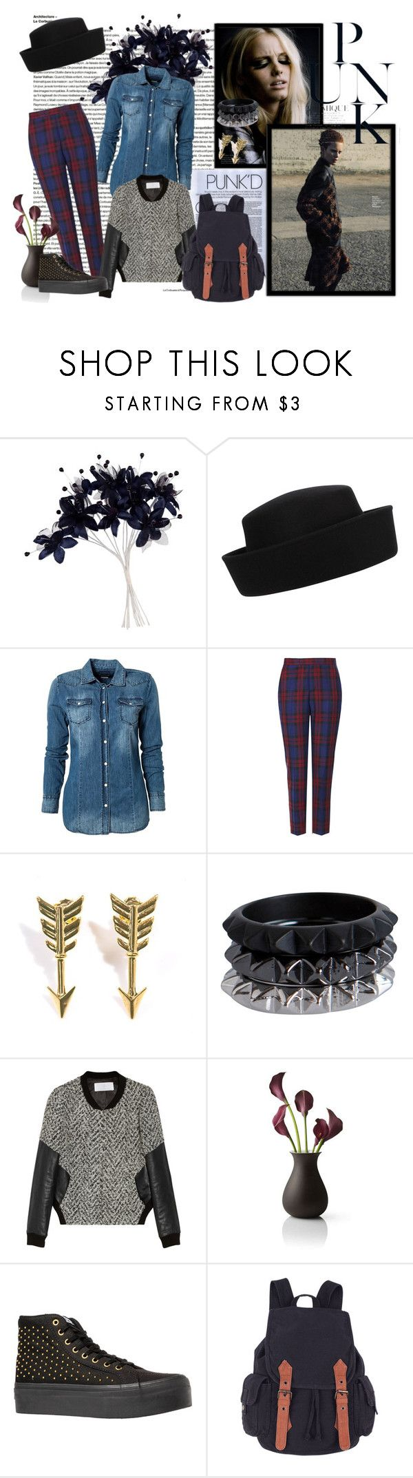 """""""Punk fashion"""" by jovanajankovic-it ❤ liked on Polyvore featuring John Lewis, Whiteley, Replay, Topshop, Jade Jagger, Pieces, Thakoon Addition, Menu and Vans"""