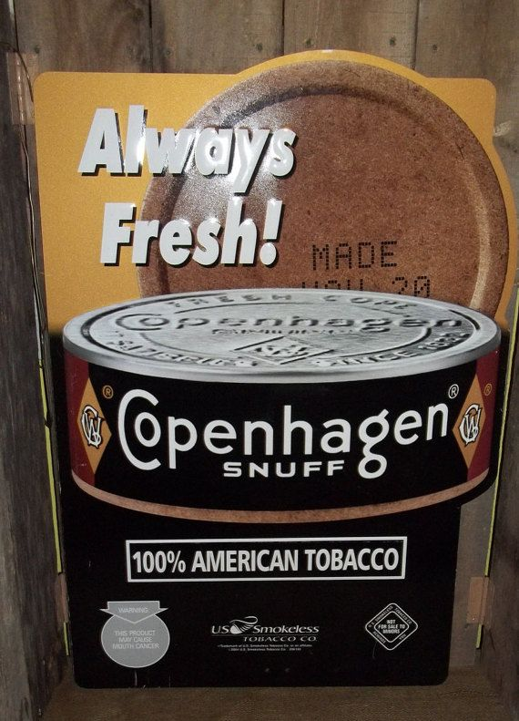 Copenhagen Snuff Tobacco Sign Advertising Sign Man Cave Sign
