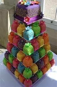 Unique Wedding Cakes by Rachel Hill: Cakes Ideas, Minis Cakes, Weddings, Food, Colors Cakes, Wedding Cakes, Mini Cakes, Cupcakes Towers, Cupcakes Cakes