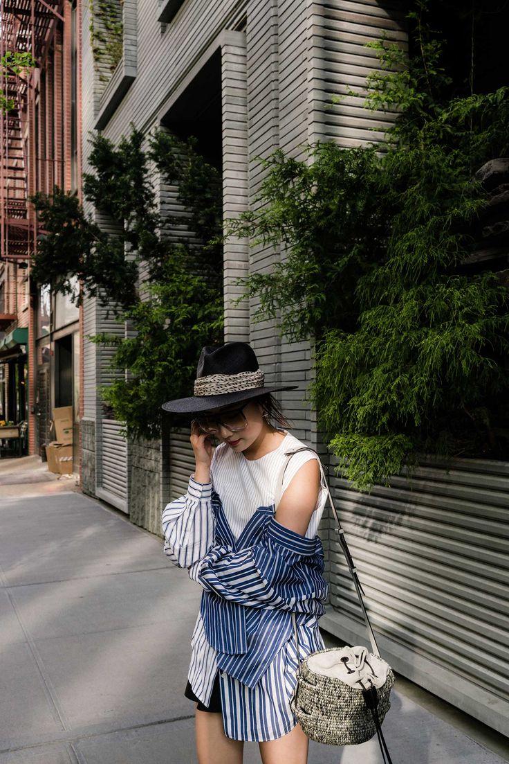 Enföld Top, Khokho Bag, Loewe Sunglasses, Janessa Leone Hat via @eggcanvas