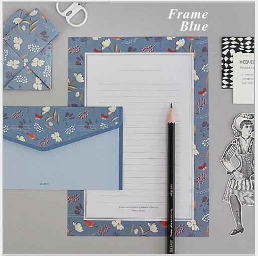 One set=4sheets letter paper+2 pcs envelope Japan sweet flower amiable animal yenvelope letter paper Set Office Supplies WJ0447