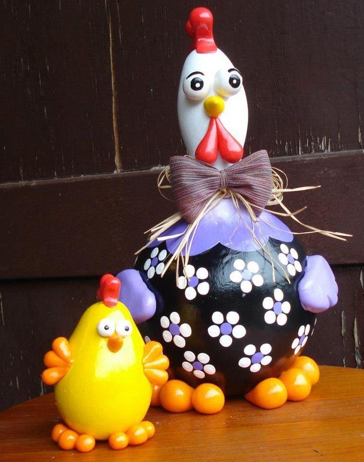 le zucche dipinte | arte em cabaças | gallinelle ( zucche dipinte) | Pinterest | Ems