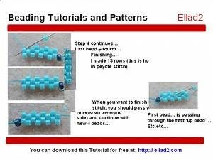Easy beading pattern for beginners. 2 beaded bracelets - 1 beaded pattern