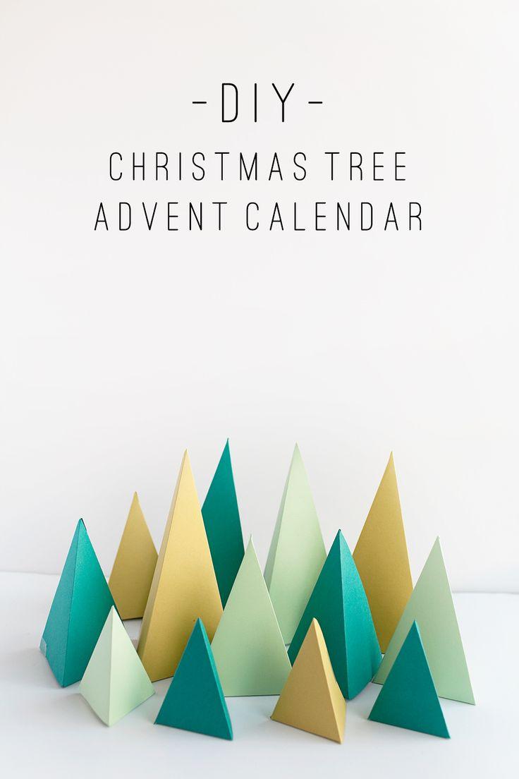 TELL: DIY CHRISTMAS TREE ADVENT CALENDAR