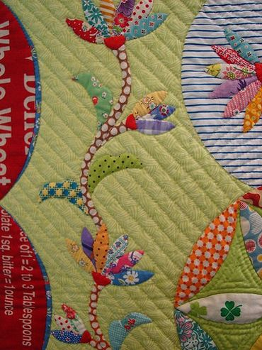 beautiful applique from Tokyo International Quilt Festival