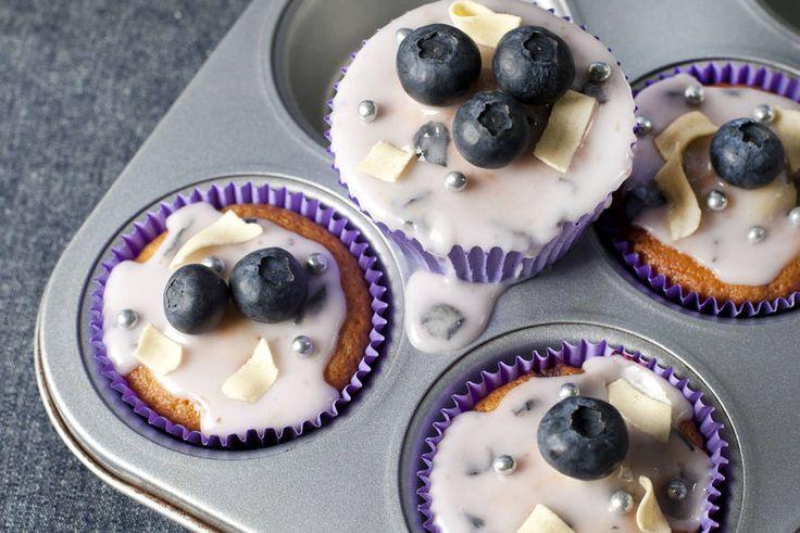 Kijk wat een lekker recept ik heb gevonden op Allerhande! Blueberry-cupcakes