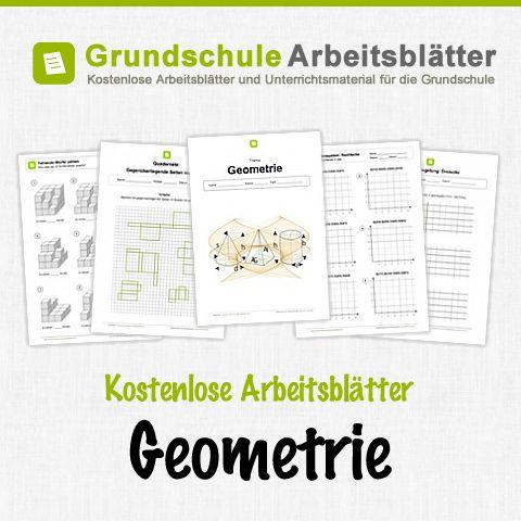 Kostenlose Arbeitsblätter und Unterrichtsmaterial zum Thema Geometrie im Mathe-Unterricht in der Grundschule.