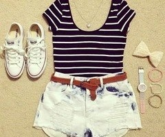Cute summer outfits on a warm day