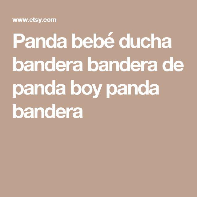 Panda bebé ducha bandera bandera de panda boy panda bandera