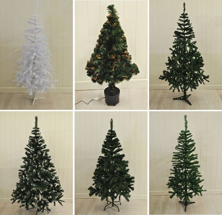 Artificial Christmas Trees Pre Lit, White, Snow Tipped and Green Xmas Trees  | eBay
