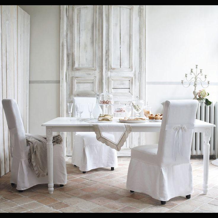 Les 25 meilleures id es de la cat gorie housses de chaises for Table et chaise de salle a manger maison du monde