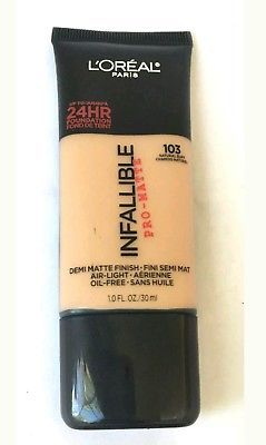 NEW - L'oreal-Infallible Pro-Mate - 24hr. Foundation # 103 Natural Buff - 1 oz