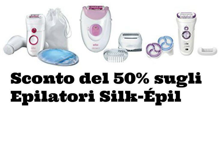 Sconto del 50% sugli Epilatori Silk-Épil. 3 modelli a partire da 36,99€!