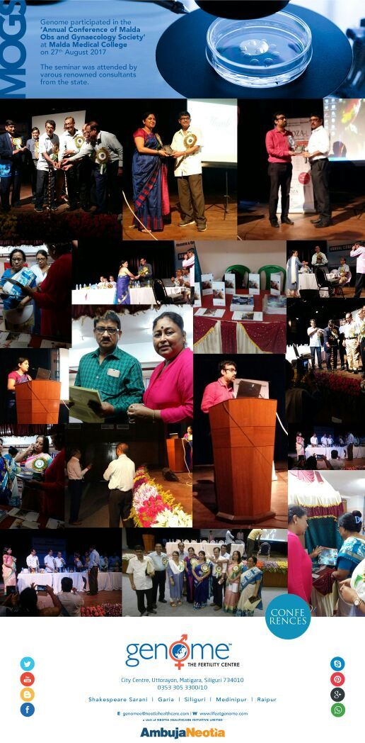 The Malda Obstetric & Gynaecological Society's Annual Conference was organized on 27th Aug at Malda Medical College and Hospital. Dr Shefali Bansal Madhav and Dr Prasenjit Roy from Genome The Fertility Centre Siliguri participated in the conference. Here are glimpses of the best moments from the conference.