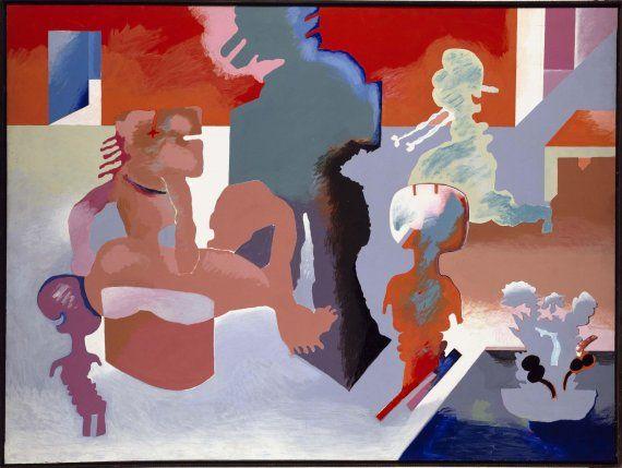 La familia de Luis Gordillo. Me gusta como con unas pocas manchas de pintura recrea una escena.