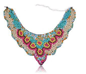 2014 New Arrived  Europe and America Exaggeration National Mutilcolour  Vintage Collar Necklace #N782 US $5.33
