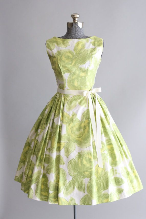 Vintage 50s Dress / 1950s Cotton Dress / by TuesdayRoseVintage