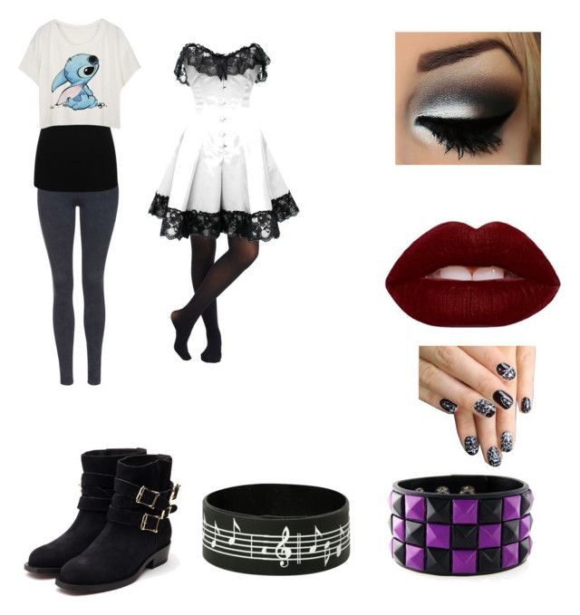 """""""Rocker Girls"""" by insanity5678 on Polyvore featuring Rupert Sanderson, Lime Crime, Topshop, M&Co, alfa.K, women's clothing, women's fashion, women, female and woman"""