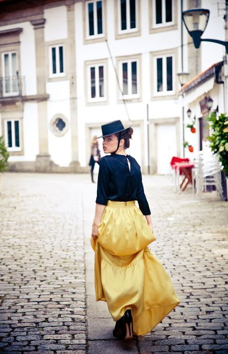 the girl in the yellow skirt by kolonaki.