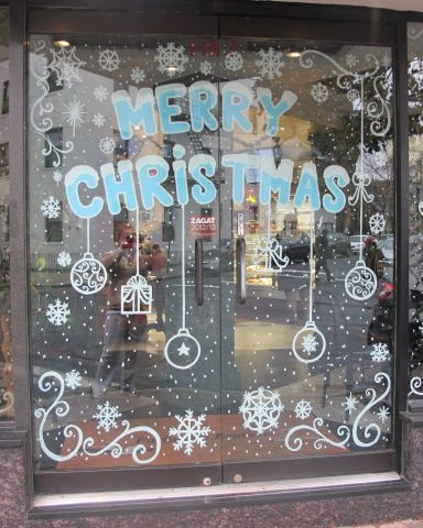 32 best Christmas Window Painting 2014 images on Pinterest ...